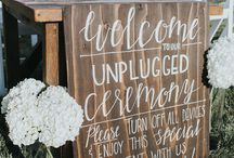 Unplugged Wedding Ideas / How to let guests know your wedding is unplugged