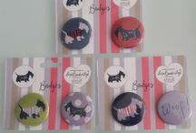 Scottie badges and mirrors / Cute pin badges and pocket mirrors available August 2014