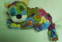 freeform crocheted
