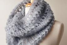 Вязание снудов , шарфов , шалей...