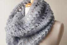 Вязаные снуды , шарфы , шали...