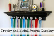 Displaying Your Awards / Fun, creative ways to display your trophies and awards. You worked hard, it's okay to show it!