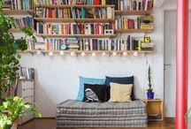 Livros na decoração / Muito além de entreter e educar, os livros ainda são uma ótima opção para decorar ambientes e dar mais charme a diversos espaços!