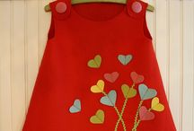 red frock with heart patches