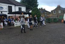 Morris Dancing at Marneys with the Thames Valley Morris Men