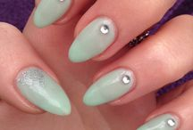 Shellac nails. Mint convertible / Shellac nail design mint convertible