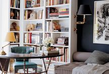 Library/Home Office LOVE! / Redoing our study! Woo-hoo! / by Virginia Johnson