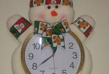 reloj de Navidad
