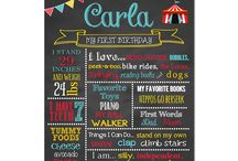 Carnival / Circus Birthday Party / Carnival Birthday Party Ideas Circus Birthday Party Ideas carnival birthday chalkboard sign favorite things poster