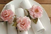flores para guardanapos