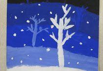 Peinture neige