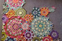 EPP Quilts / La Passacaglia and millefiori and hexagons