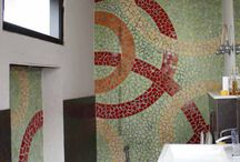 Glass Mosaic tiles in your Bathroom