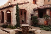 outdoor ideas / mostly stone and wood homestyles creating an inviting feeling