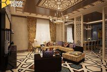 Квартира в стиле Маракеш. / Арабский стиль в основном характеризуется тремя основными аспектами: цвет, геометрические фигуры и чувственностью.Колорит в этом стиле достигается в основном за счет декоративных аксессуаров. Одеяла, подушки, шторы и ковры оживляют интерьер, в то время как стены компенсируют эту интенсивность оставаясь в нейтральном цвете.