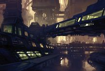 sci-fi landscapes