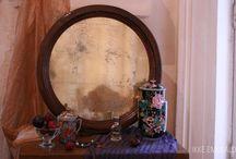 aged mirrors by Ikke Emerald / Мы создаем состаренные зеркала. Безусловно,с возможностью попасть в Зазеркалье для вечерней партии в шахматы.