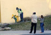 Street art in Tartu, Estonia