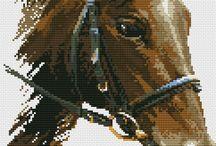 Лошади / Вышивка крестом