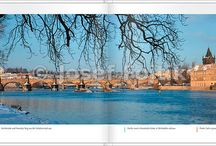 "Book ""Panoramic Pictures of Prague"" / A book of large double-page panoramic pictures of Prague -   a completely different view of the City   with short texts in English, German, Czech and Italian language   Format B5 - 176 x 250 mm, 88 pages, ISBN 978-80-904978-0-1  One of the few publications on the market taking Prague in the panoramic format."