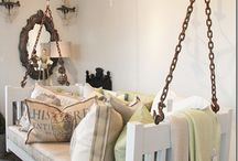 Bed head chairs & ideas / Chairs made out of old beds