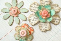 paper/fabric flower ideas/DIY / paper & fabric flower ideas &DIY