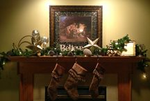 Christmas Mantle  / by Carly Belz