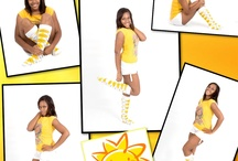 Yellow Knee Socks / Yellow High Socks in solid, tube, striped, argyle, neon, smileys, beer