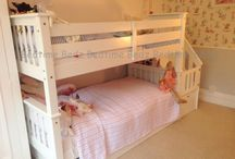 Staircase Bunk Beds by Bedtime Bedz / A classic bunk bed with a safe staircase for little ones to climb