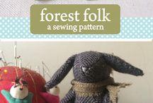 Ann Wood Hand Made / Fabric animals