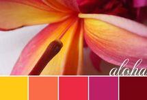 Hawaiian wedding color scheme