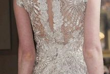 Wedding Gown Details / It is the details that make the dress! Beading, embroidery, pleats, lace, ruffles and everything else that is pretty...