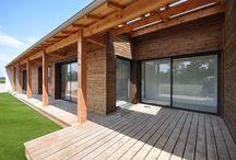 Aménagement extérieur - Vivanbois / Vivanbois : Aménagement exterieure: terrasse bois, brise soleil, pergolla, escalier
