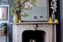 Hearth / Fireplace makeover.  / by Catherine Betz