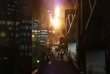 Kebakaran Gedung Neo Soho sebrang Central Park Mall Grogol