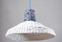 LOFT LAMPS by Barborka Design / Eco paper hanging lamps in industrial style. Its shape is inspired by old factory lamps.