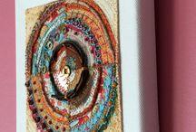 hanging textile art