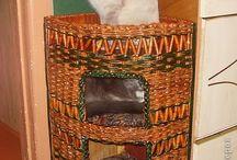 Papírfonás - macska- és kutyaházak
