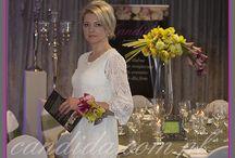Dekoracje ślubne / Pracownia dekoracji Candida zajmuje się kompleksowym przygotowaniem dekoracji ślubnych, począwszy od wiązanek ślubnych poprzez dekoracje kościoła, dekoracje sali weselnej, samochodu Państwa Młodych.