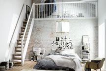 Анисов мансарда спальня