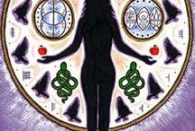 Artwork of Julie Collet / Beautiful Wheel of The Year artwork from Goddess artist Julie Collet