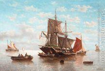 vessels on water