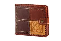 Handmade, Handwork, Leather accessories / Authorꞌs products from a genuine leather of handwork