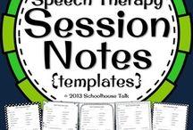organize speech therapies