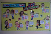 Staff welcome board
