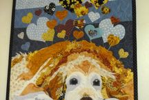 GOLDEN RETRIEVERS QUILTS