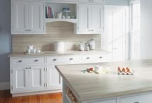 Laminate Kitchen Countertops / Simple, attractive but affordable at every level. Check out some of our favorite laminate kitchen countertops.