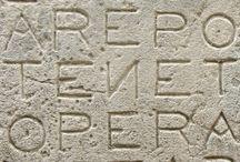 Quadrato del Sator - Sator Square / Il quadrato magico è visibile su un numero vasto di reperti archeologici, ne sono stati rinvenuti esempi nelle rovine romane di Cirencester (l'antica Corinium) in Inghilterra, nel castello di Rochemaure (Rhône-Alpes), a Oppède in Vaucluse, a Siena, sulla parete del Duomo cittadino di fronte al Palazzo Arcivescovile, nella Certosa di Trisulti a Collepardo (FR), a Santiago di Compostela in Spagna, ad Altofen in Ungheria, a Riva San Vitale in Svizzera...