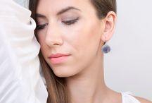 Largentolab Silver Dangle Earrings / Dangle earrings, silver earrings, enamel earrings, silver and enamel, color, elegant jewelry, statement earrings, enamel jewelry, symbols, one of kind, sterling silver, handmade jewelry