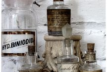 Apothecary bottles ..